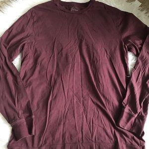 J Crew broken in slim fit long sleeved t shirt